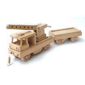 Ceeda Cavity - přírodní dřevěný vláček - Drezína s vagónem