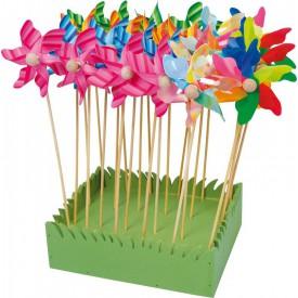 Dětské dřevěné hry - Větrník sada 24 ks