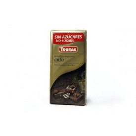 Torras Bezlepková čokoláda s kávou 75 g