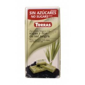 Torras Bezlepková čokoláda s chlorelou a černou mořskou solí 75 g