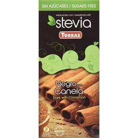Torras Bezlepková čokoláda STÉVIA se skořicí bez přidaného cukru 125 g