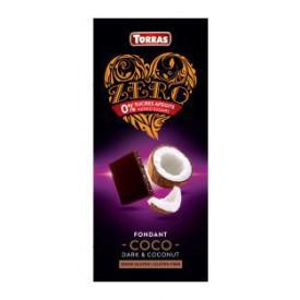 Torras ZERRO Bezlepková hořká čokoláda s kokosem bez přidaného cukru 125 g