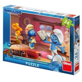 Dino Puzzle Šmoulové 3 Chvilka poezie 24 dílků