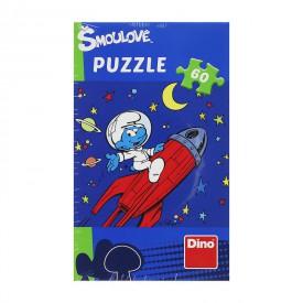 Dino Puzzle Šmoulové 60 dílků Šmoula letí na měsíc