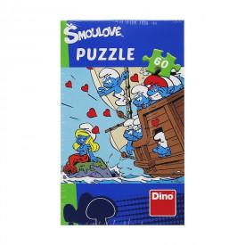 Dino Puzzle Šmoulové 60 dílků Milujeme Šmoulinku