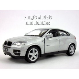 Welly - BMW X6 model 1:34 stříbrné