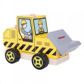 Bigjigs Toys dřevěné hračky - Nasazování buldozer