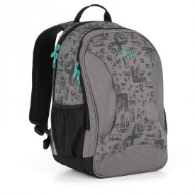 TOPGAL Studentský batoh Grey HIT 893