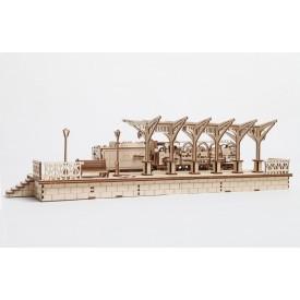 Ugears dřevěná stavebnice 3D mechanické Puzzle - Nástupiště