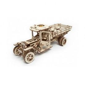 Ugears dřevěná stavebnice 3D mechanické Puzzle - Nakládač Truck UGM-11