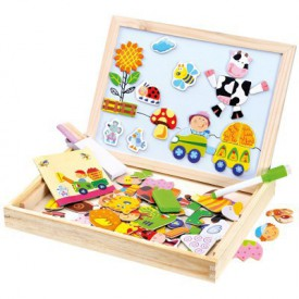 Bino - Farma magn. tabulka s puzzlemi 102ks