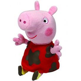 Beanie Babies 20 cm Peppa Pig zablácený červený