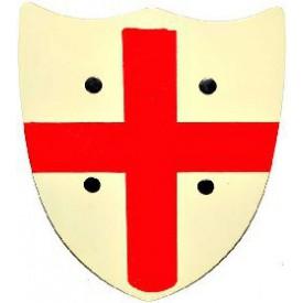 Wiky Dřevěný štít s červeným křížem