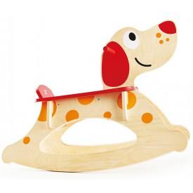HAPE dřevěný houpací pes