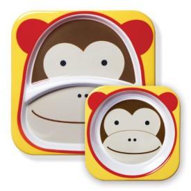 SKIP HOP ZOO Jídelní set  opička