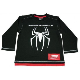 Chlapecké tričko černý Spiderman dlouhý rukáv 10 let cca 140 cm