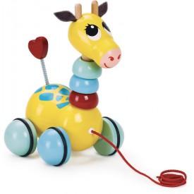 Vilac Dřevěná tahací hračka Žirafa
