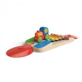 HAPE dřevěná vláčkodráha - Koleje s xylofónem