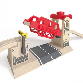 HAPE dřevěná vláčkodráha - Zvedací most