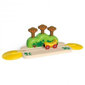 HAPE dřevěná vláčkodráha - Koleje s opičkami