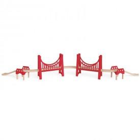 HAPE dřevěná vláčkodráha - Červený most