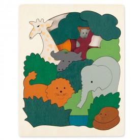 HAPE dřevěná vkládačka - Zvířátka safari