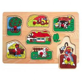 Dřevěné hračky - Vkládací puzzle - Vkládačka - Farma