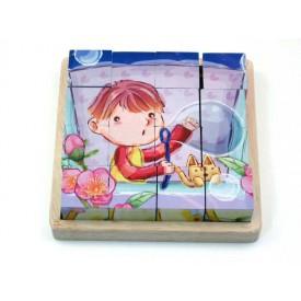 Dřevěné hračky - Obrázkové kostky