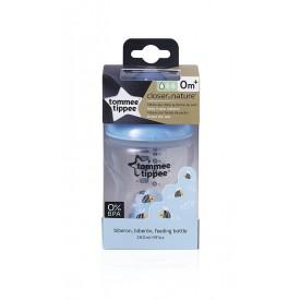 TOMMEE TIPPEE Kojenecká láhev C2N modrá 260 ml