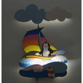 Dětská LED lampička - Krtek na  - Poškozená krabička