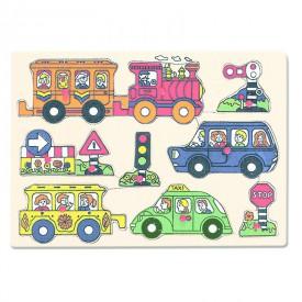 Bino Dřevěné Puzzle - doprava