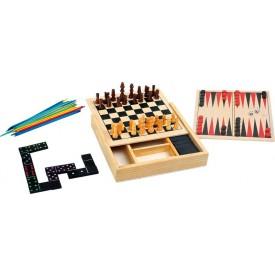 Dřevěné hry - Klasické hry 4v1