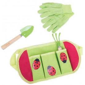Bigjigs Toys - Zahradní nářadí Beruška