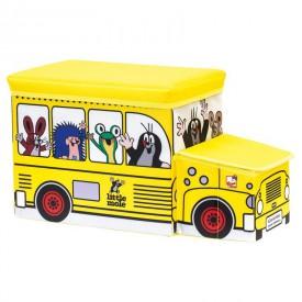 Bino - Krtek krabice na hračky - bus
