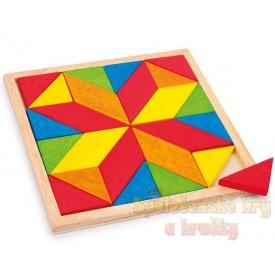 Dřevěná mozaika Hvězda