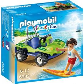 PLAYMOBIL 6982 Surfař s plážovou buginou