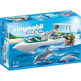 PLAYMOBIL 6981 Sportovní člun s potápěči
