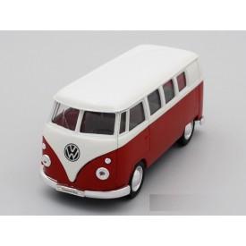 Welly - VW 1962 Classical Bus model 1:24 červenobílý