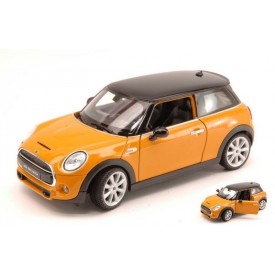 Welly - New Mini Hatch model 1:24 oranžové