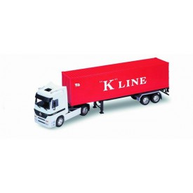 Welly - Tahač s přívěsem Mercedes-Benz Actros K Line model 1:32