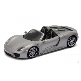 Welly - Porsche 918 Spyder convertible model 1:24 šedé