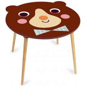 Vilac - Dřevěný stoleček medvídek