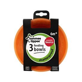 TOMMEE TIPPEE Misky 3 ks Basic oranžové