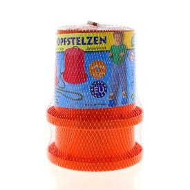 LENA Plastové chůdy v síťce oranžové