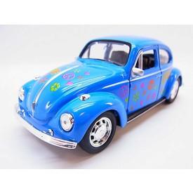 Welly - Volkswagen Beetle model 1:34 modrý duhový