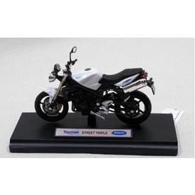 Welly - Motocykl Triumph Street Triple model 1:18 Bílý