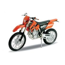 Welly - Motocykl KTM 525EXC  model 1:18 oranžový