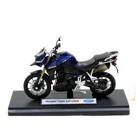 Welly - Motocykl Triumph Tiger Explorer model 1:18 modrý