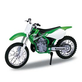 Welly - Motocykl Kawasaki KX250 (2002) model 1:18 zelená