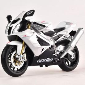 Welly - Motocykl Aprilia RSV1000R model 1:10 stříbrný